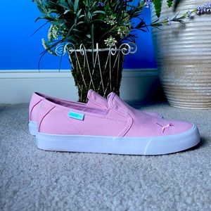 Puma Bari pastel pink slip-ons